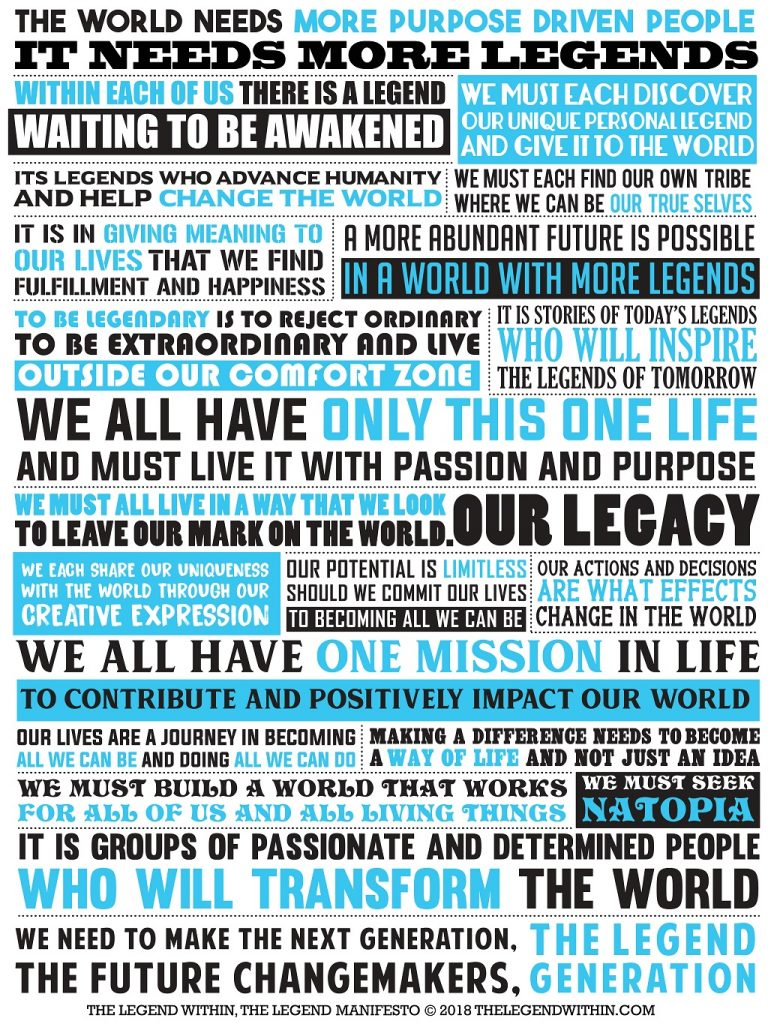 The Legend Within Manifesto